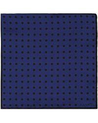 Lanvin - Dotted Silk Twill Pocket Square - Lyst