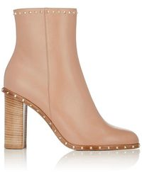 Valentino - Rockstud Leather Ankle Boots - Lyst