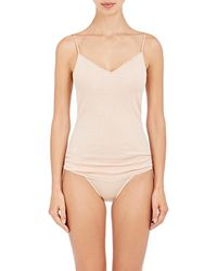 Hanro Seamless V-Neck Cami - Natural