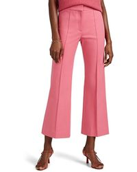 Derek Lam Cotton Twill Crop Flare Pants - Pink