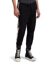 Greg Lauren Striped Cotton-blend Jogger Pants
