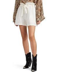 Nili Lotan - Mora Linen Shorts - Lyst