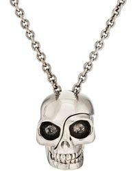Alexander McQueen - Divided-skull Pendant Necklace - Lyst