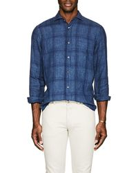Inis Meáin - Plaid Washed Linen Shirt - Lyst