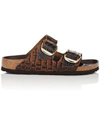 Birkenstock - Arizona Big Buckle Stamped Leather Sandals - Lyst