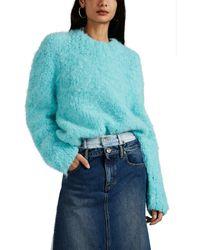 Maison Margiela Wool-blend Bouclé Oversized Jumper - Blue