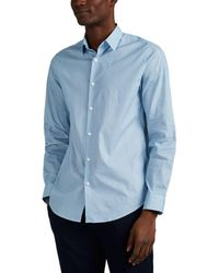 97e1af83 Theory Zack Moverne Plaid Sportshirt in Blue for Men - Lyst