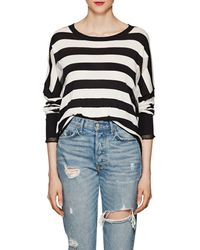 NSF - Presley Distressed Striped Cotton Sweater - Lyst