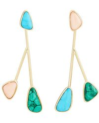 Pamela Love - Mismatched Satellite Drop Earrings - Lyst