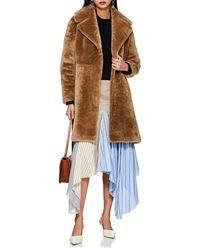 Barneys New York Lamb Fur Coat - Brown