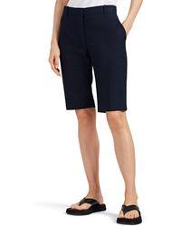 The Row Rosemary Cotton Bermuda Shorts - Blue