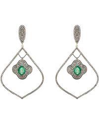 Carole Shashona - Arabesque Vert Earrings - Lyst