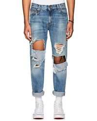 R13 - Sid Distressed Straight Jeans - Lyst