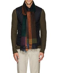 Barneys New York - Checked Cashmere Scarf - Lyst