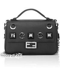 Fendi - Leather Double Baguette Micro - Lyst
