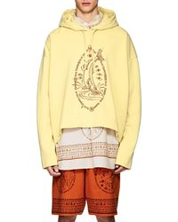 Acne Studios - Orinak Front Salmon Embroidered Cotton Hoodie - Lyst