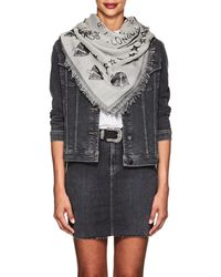 Givenchy - Tour Date Oversized Silk-wool Jacquard Scarf - Lyst