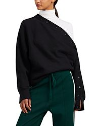 Rag & Bone - Kate Asymmetric Snap-detailed Cotton Sweatshirt - Lyst