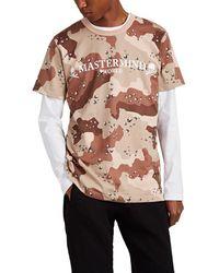 Mastermind Japan Logo-print Camouflage Cotton T-shirt - Black