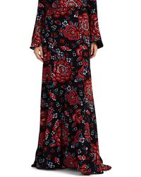 Rebecca de Ravenel - Floral Silk Maxi Skirt - Lyst