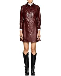 CALVIN KLEIN 205W39NYC - Leather Shirtdress - Lyst