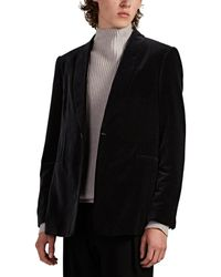 The Row Archer Velvet One-button Dinner Jacket - Black