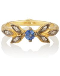 Cathy Waterman - Blue Sapphire Ring - Lyst