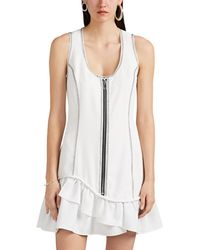 Opening Ceremony - Topstitched Canvas Minidress - Lyst
