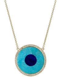 Jennifer Meyer - Inlay Evil Eye Necklace - Lyst