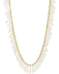 Cathy Waterman - Pearl Fringe & Chain Necklace - Lyst