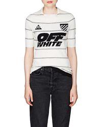 Off-White c/o Virgil Abloh Striped Compact Knit Polo Shirt - Multicolour