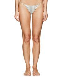 Kiki de Montparnasse - Striped Silk Bikini Briefs - Lyst
