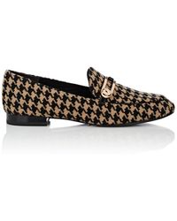 Stella Luna - Houndstooth Tweed Loafers - Lyst