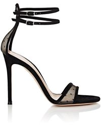 Gianvito Rossi - Laurel Mesh & Suede Sandals - Lyst