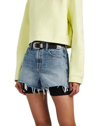 Alexander Wang Bite High-rise Denim Cutoff Shorts - Blue