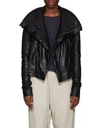 Rick Owens - Padded Blistered-leather Biker Jacket - Lyst