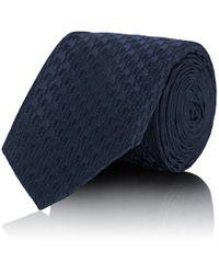 Uman - Houndstooth Silk Necktie - Lyst