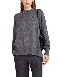 Jil Sander Side-slit Cashmere Oversized Jumper - Gray