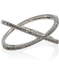 Eva Fehren Fine Shorty Ring Size 6 - White