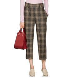 Acne Studios - Plaid Wool-mohair Crop Trousers - Lyst