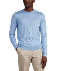 Brioni - Slub Cashmere-blend Crewneck Sweater - Lyst