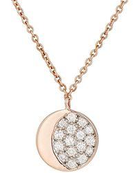 Pamela Love Reversible Moon Phase Pendant Necklace - White