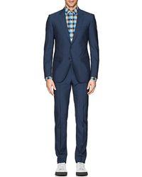 Lanvin - Attitude Mélange Wool Two-button Suit - Lyst