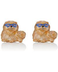 Barneys New York Pomeranian Cufflinks - Brown