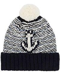 Thom Browne - Anchor-motif Wool-mohair Beanie - Lyst