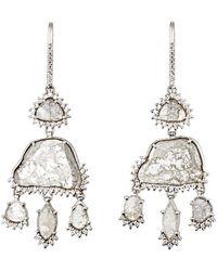 Sharon Khazzam - Grey & White Diamond Triple - Lyst