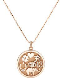 Jennifer Meyer - Good Luck Charm Pendant Necklace - Lyst