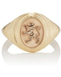 Retrouvai - Tiered Fantasy Signet Ring - Lyst