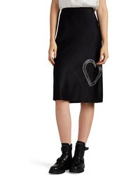Alexander Wang - Safety-pin-embellished Silk Skirt - Lyst
