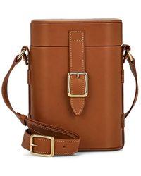 OFFICINA DEL POGGIO Mini Safari Leather Crossbody Bag - Brown